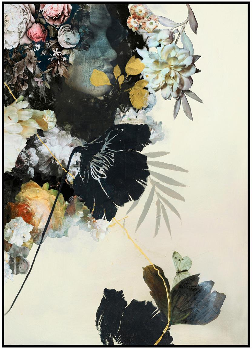 Oprawiony druk cyfrowy Haute Couture, Wielobarwny, S 30 x W 40 cm