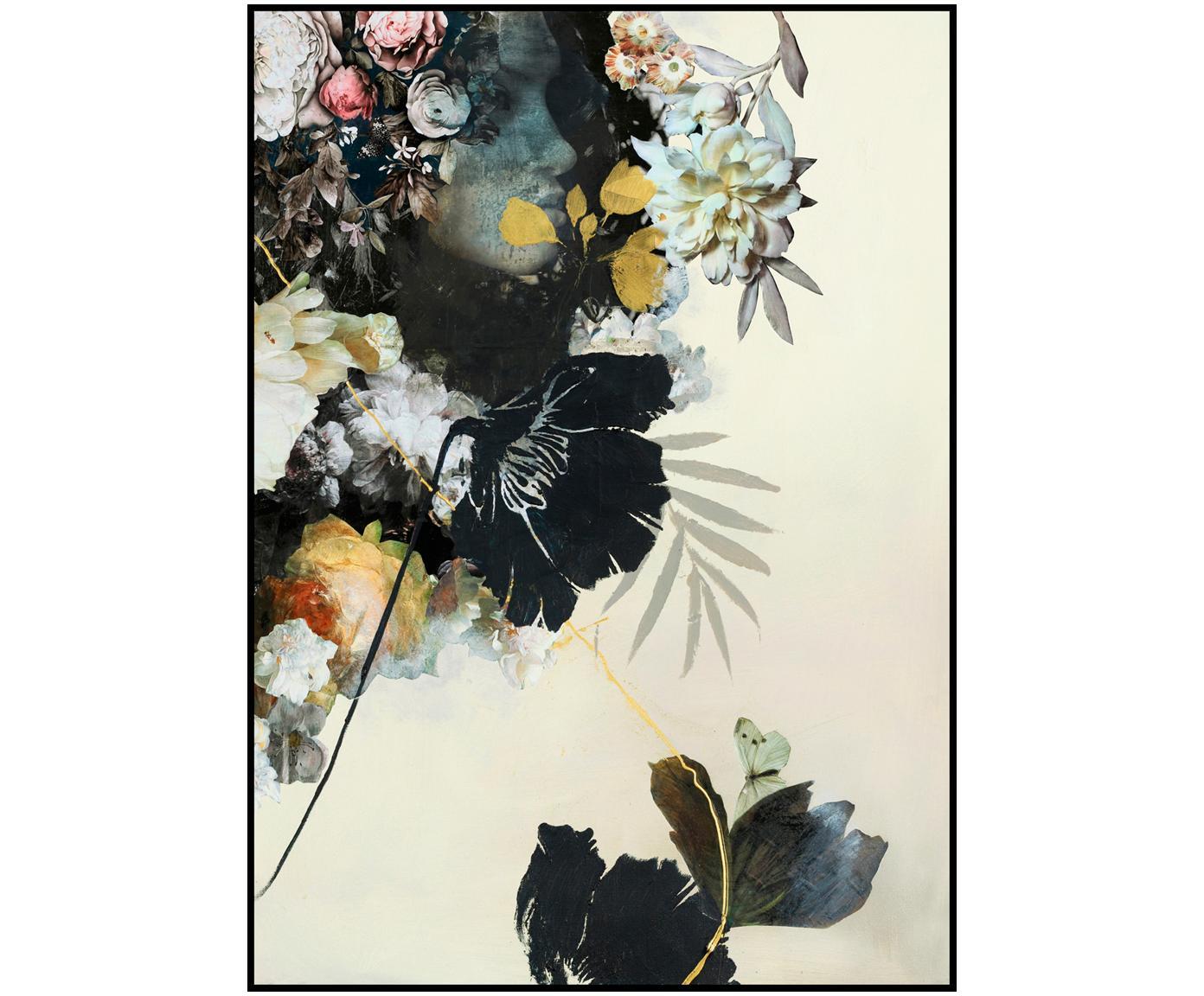 Stampa digitale incorniciata Haute Couture, Immagine: stampa digitale su carta , Cornice: Pannello di fibra ad alta, Multicolore, Larg. 30 x Alt. 40 cm