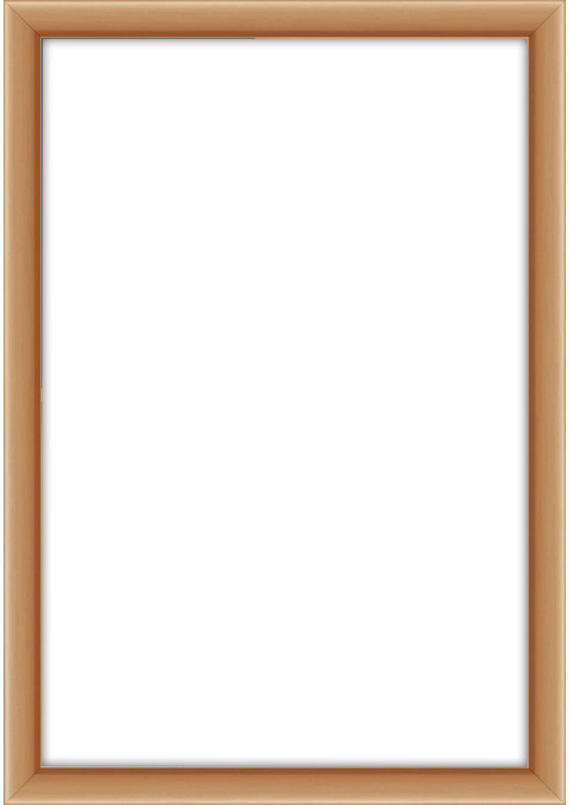 Cornice color rame Accent, Cornice: alluminio rivestito, Retro: Pannello di fibra a media, Ramato, 10 x 15 cm