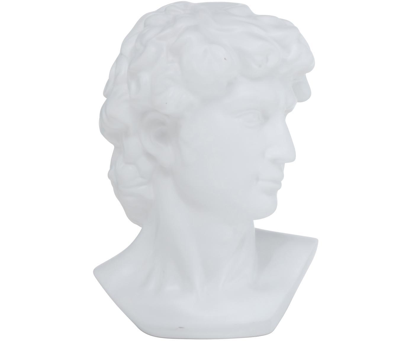 Deko-Objekte Ludovico, Steingut, Weiß, 20 x 29 cm