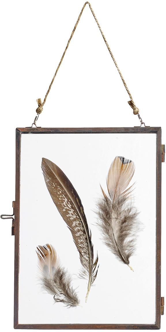 Portafoto da parete in metallo Pioros, Cornice: metallo, rivestito, Rame, trasparente, 13 x 18 cm