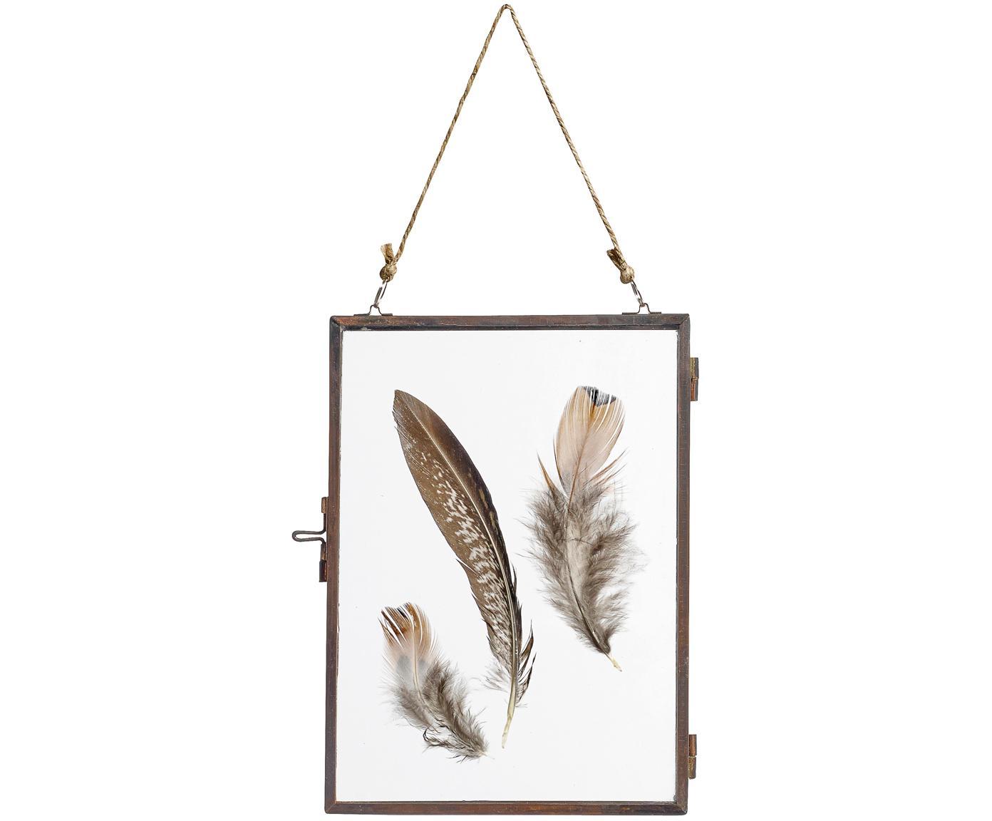 Ramka na zdjęcia Pioros, Miedź, transparentny, S 13 x D 18 cm