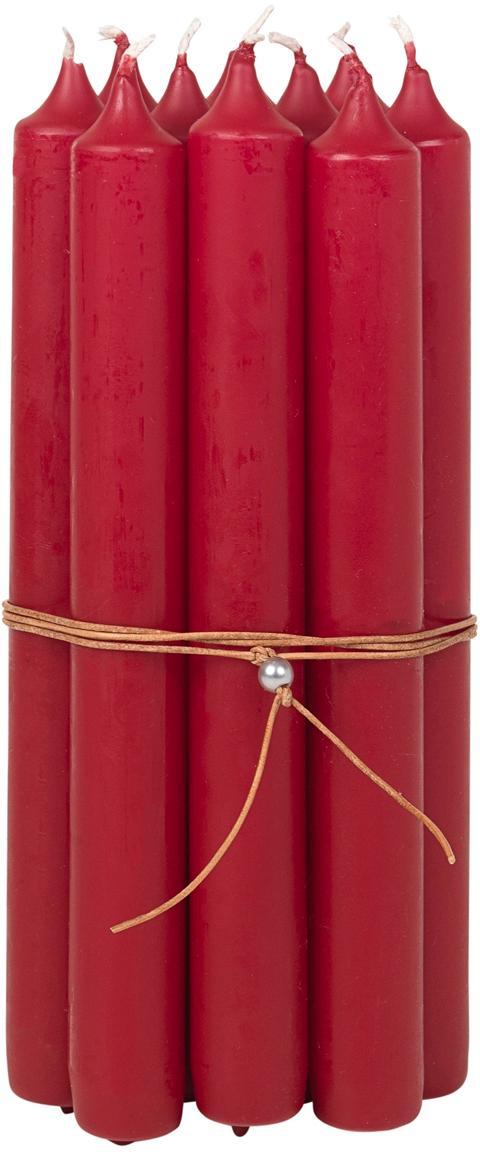 Steekkaarsen Classic, 10 stuks, Paraffinewas, Rood, Ø 2 x H 19 cm