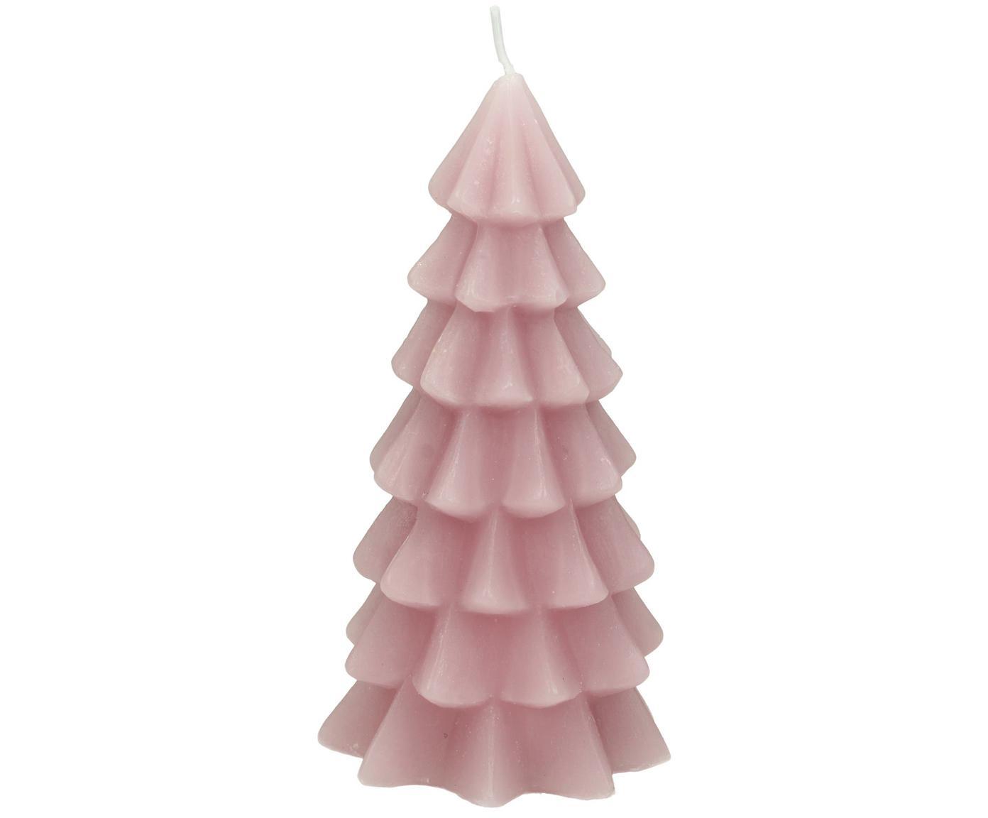 Kaars Christmas Tree, Paraffinewas, Roze, Ø 6 x H 12 cm