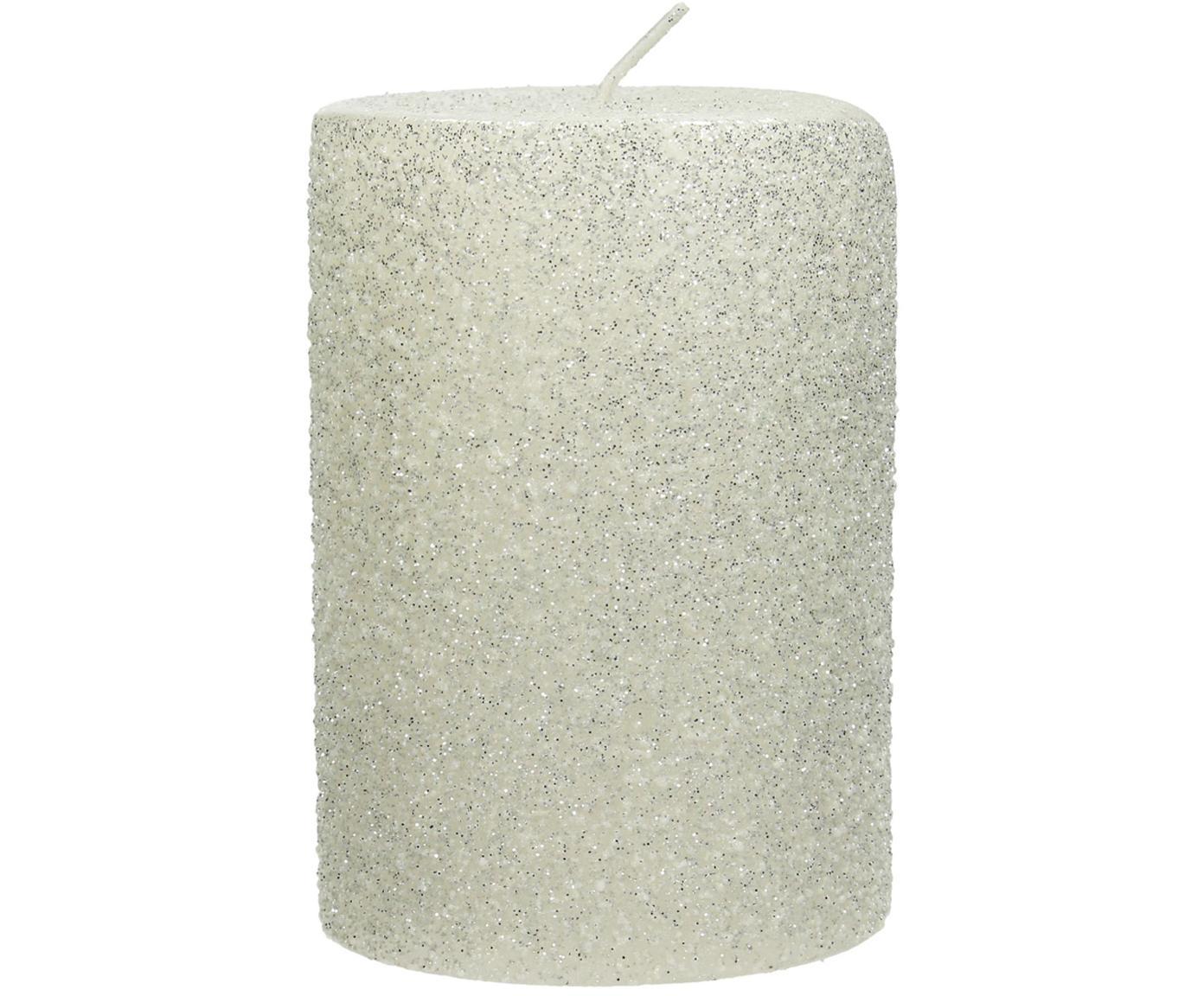 Candela pilastro Flair, Cera, Bianco, Ø 7 x Alt. 10 cm