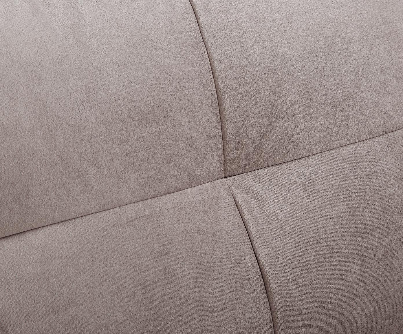 Fluwelen bank Alva (3-zits), Bekleding: fluweel (hoogwaardig poly, Frame: massief grenenhout, Poten: massief gebeitst beukenho, Taupe, B 215 x D 92 cm
