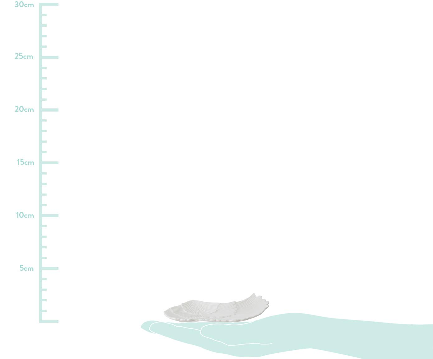 Deko-Schale Inge, Porzellan, Weiß, 10 x 21 cm