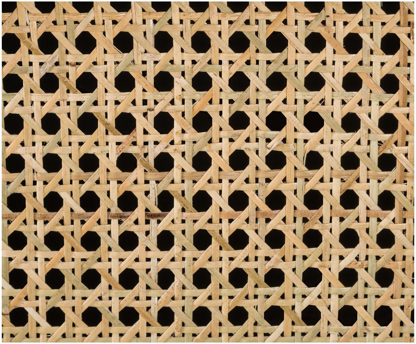 Komoda z plecionką wiedeńską Vienna, Korpus: lite drewno mangowe, laki, Nogi: metal malowany proszkowo , Czarny, beżowy, S 165 x W 78 cm