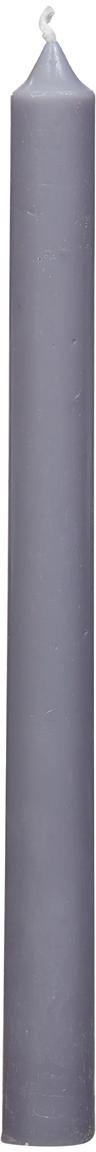 Candela a bastone Stick 4 pz, 95% cera paraffinica, 5% cera di soia, Grigio chiaro, Ø 2 x Alt. 25 cm