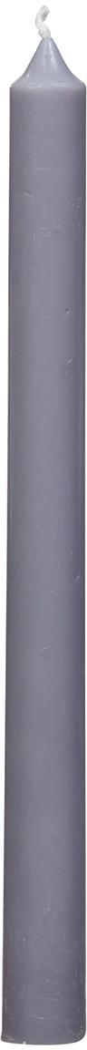 Velas candelabro Stick, 4uds., Parafina, Gris claro, Ø 2 x Al 25 cm