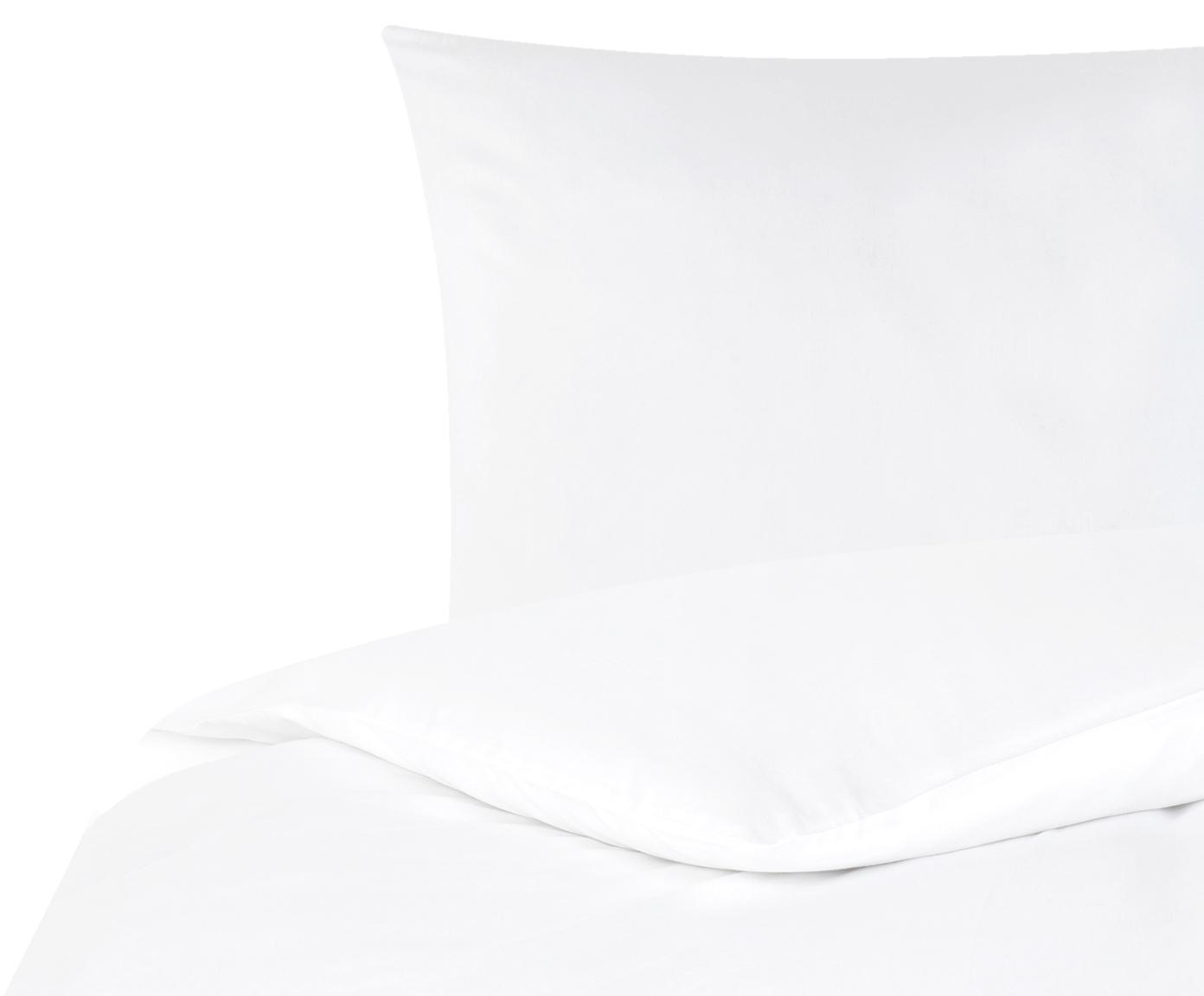 Baumwollsatin-Bettwäsche Comfort in Weiss, Webart: Satin Fadendichte 250 TC,, Weiss, 155 x 220 cm + 1 Kissen 80 x 80 cm