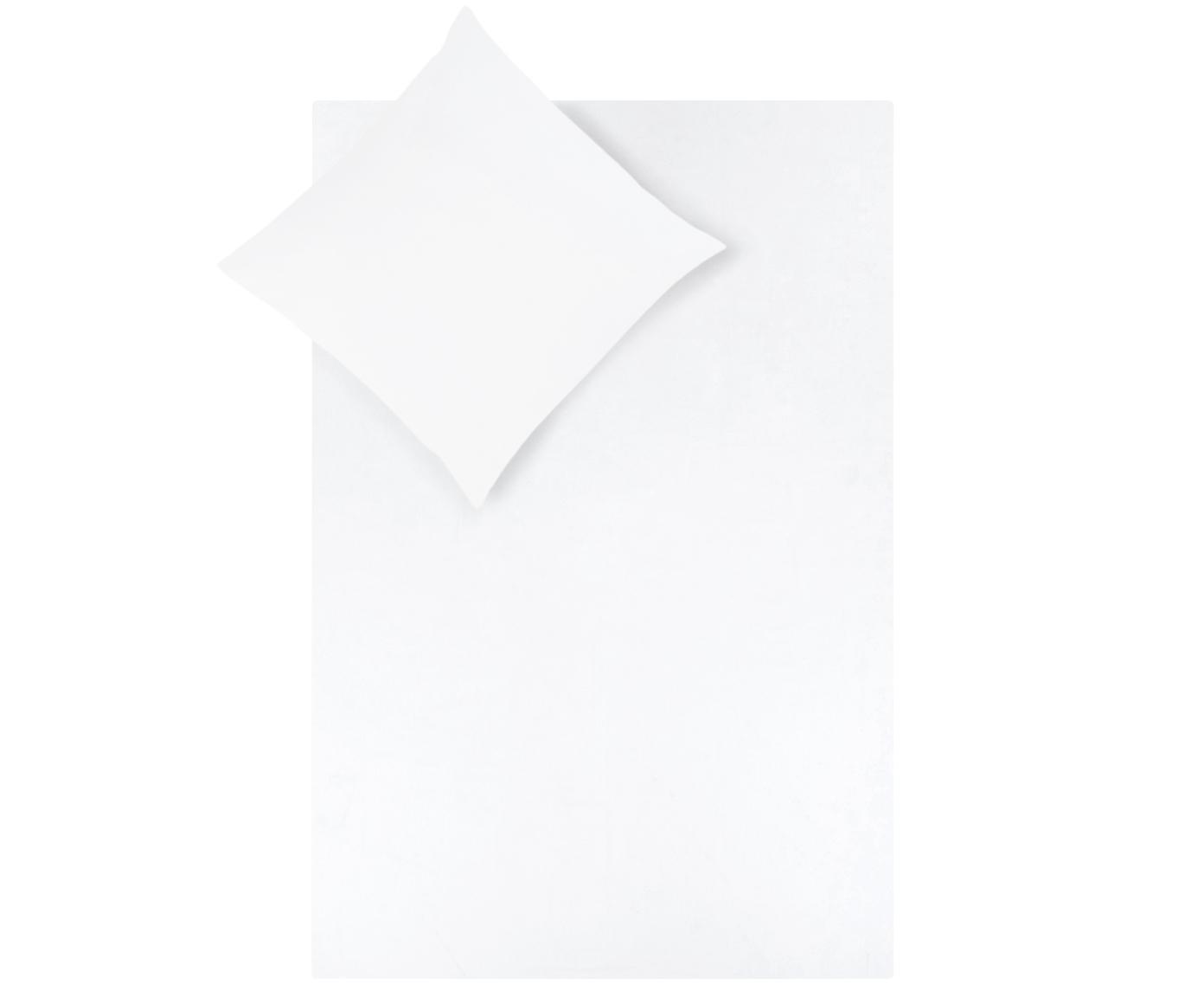 Baumwollsatin-Bettwäsche Comfort in Weiss, Webart: Satin Fadendichte 250 TC,, Weiss, 200 x 200 cm + 2 Kissen 80 x 80 cm