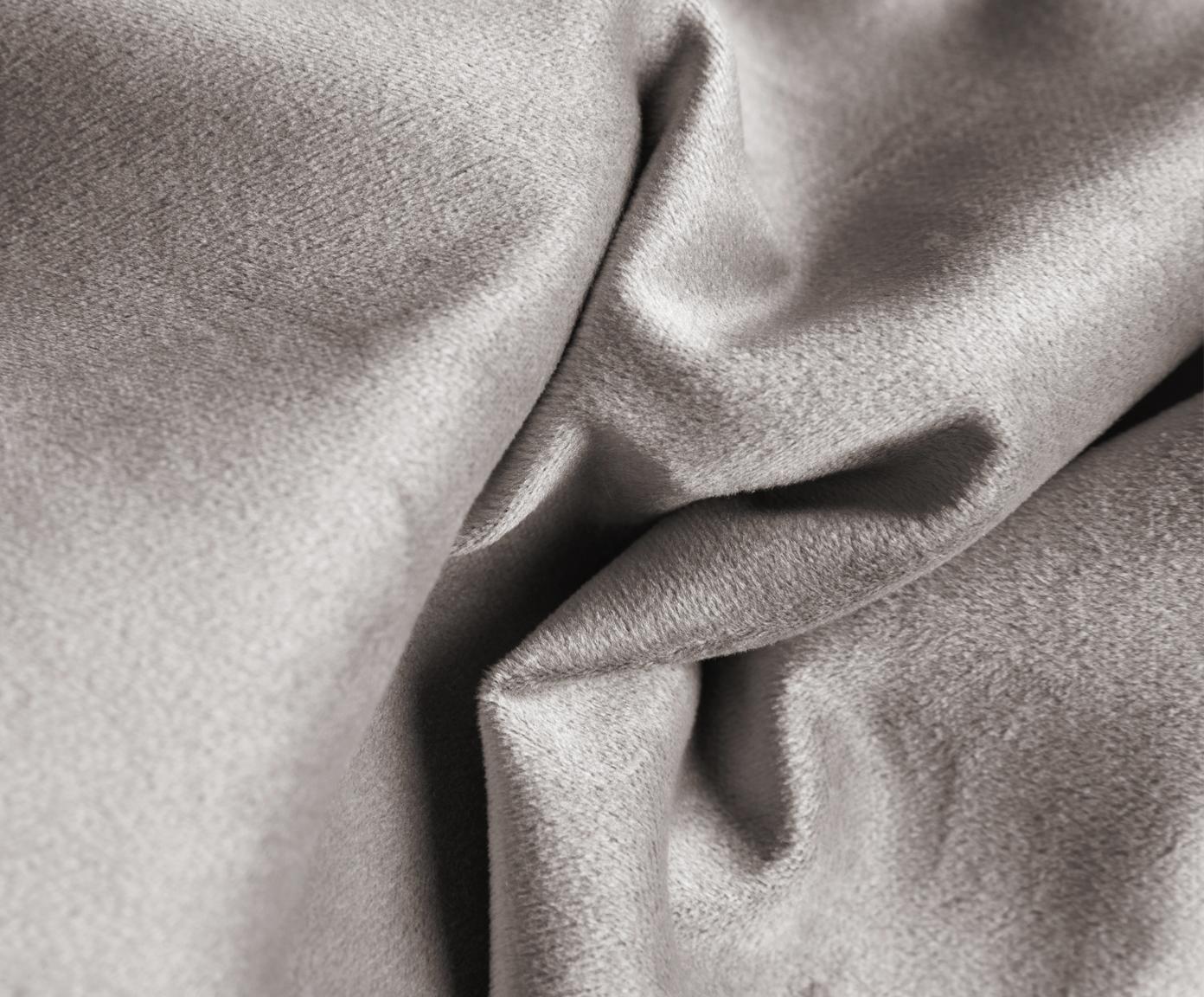 Szezlong z aksamitu Alva, oparcie z lewej strony, Tapicerka: aksamit (wysokiej jakości, Stelaż: drewno sosnowe, Nogi: lite drewno bukowe, barwi, Tapicerka: ciemnoszary Nogi: drewno bukowe, ciemne, barwione, S 193 x G 94 cm