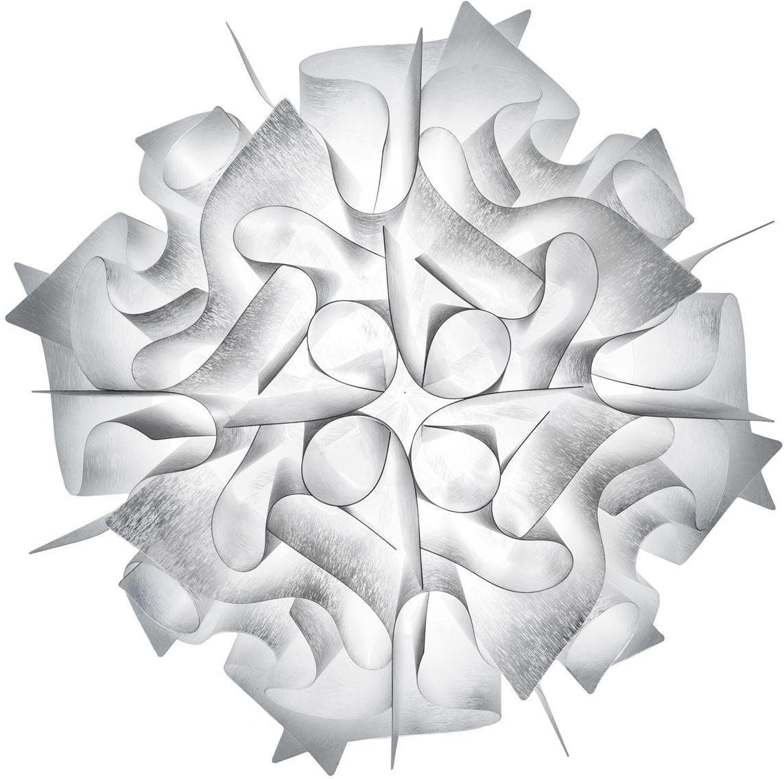 Handgefertigte Decken- und Wandleuchte Veli, Technopolymer Opalflex®, recycelbar, bruchfest, flexibel, antistatisch beschichtet, UV- und hitzebeständig, Weiß, Ø 53 x T 20 cm