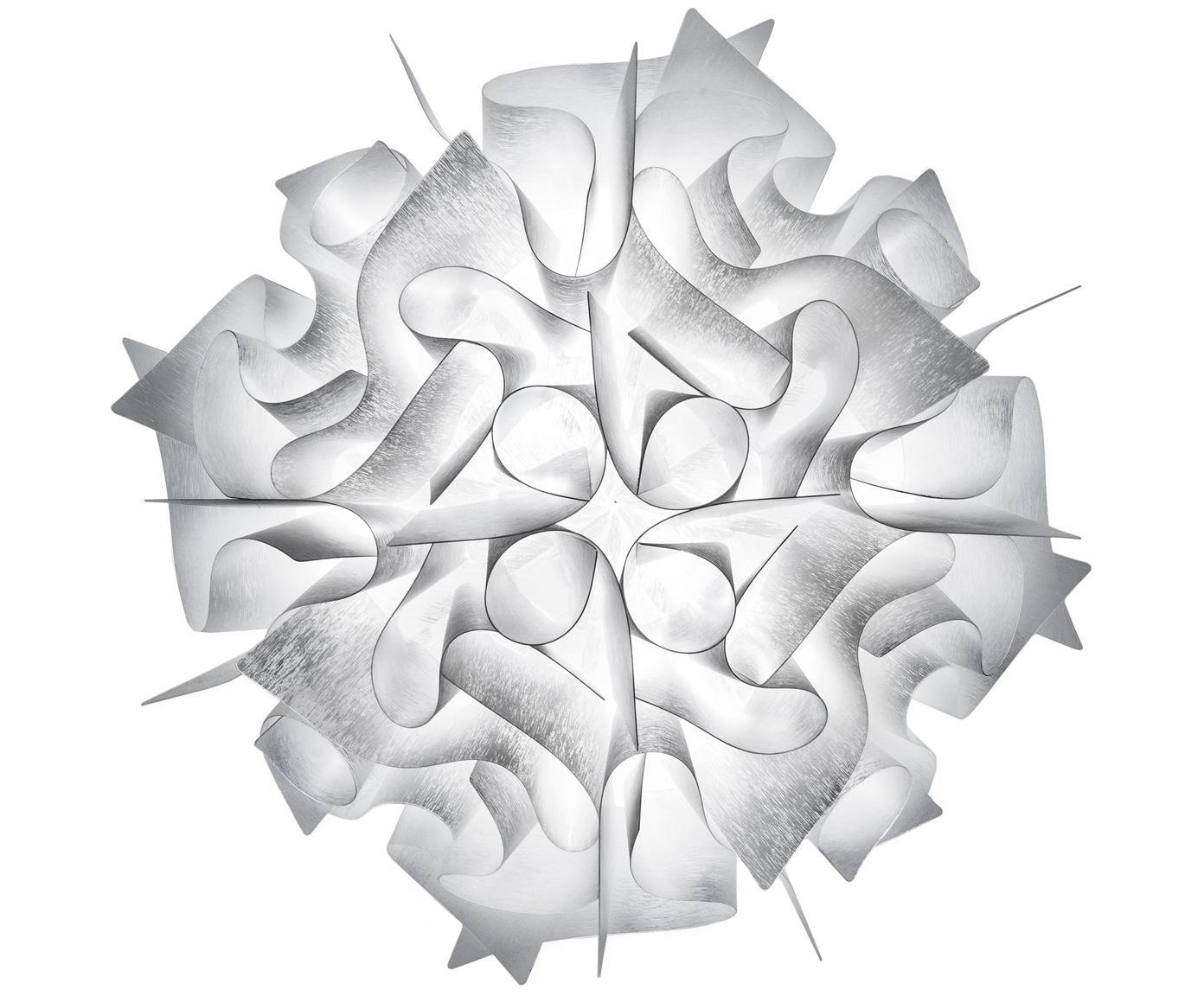 Handgemaakte wand- en plafondlamp Veli, Technopolymeer Opalflex®, recyclebaar, onbreekbaar, flexibel, anti-statisch gecoat, UV- en hittebestendig, Wit, Ø 53 x D 20 cm
