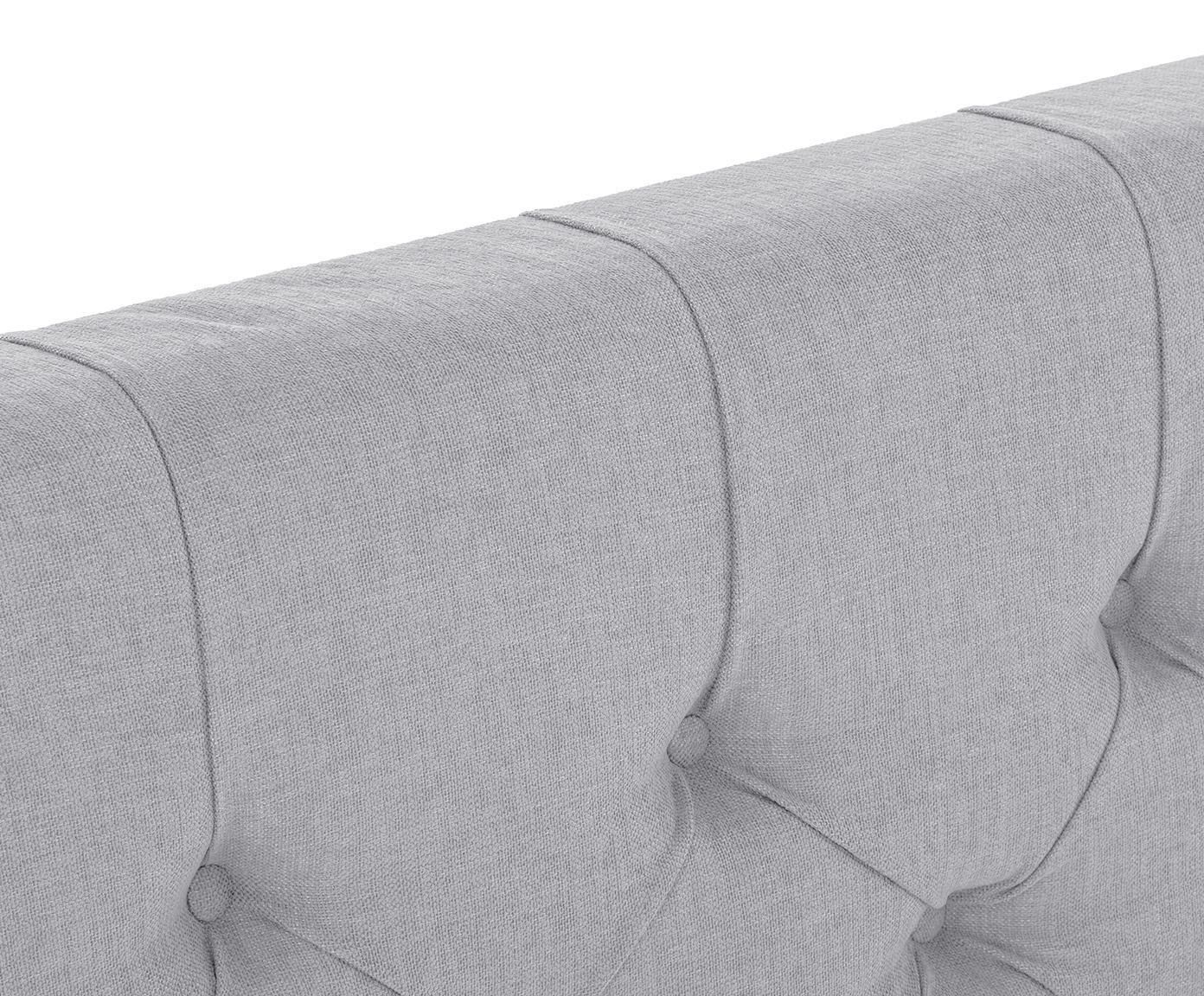 Łóżko kontynentalne premium Phoebe, Nogi: lite drewno bukowe, lakie, Szary, 200 x 200 cm