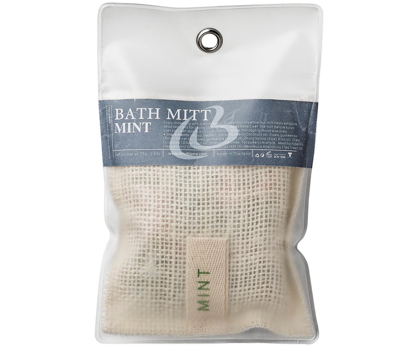 Saco de jabón Serena (menta), Jabón: glicerina, perfume, Bolsa: lino, Recipiente: plástico, Bayo, transparente, An 12 x Al 20 cm