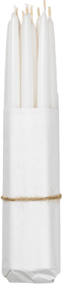 Velas cónicas Loka, 10uds., Cera, Blanco, Ø 1 x Al 21 cm