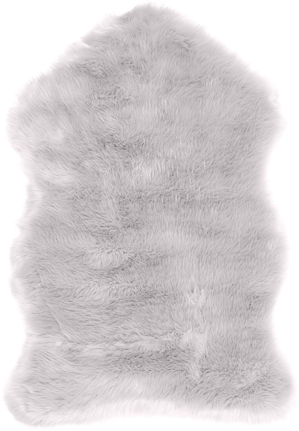 Kunstvacht Mathilde, glad, Bovenzijde: 65% acryl, 35% polyester, Onderzijde: 100% polyester, Lichtgrijs, 60 x 90 cm