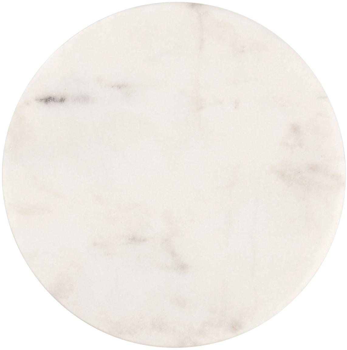 Marmor-Untersetzer Guda, 4 Stück, Marmor, Weiß, Ø 10 cm