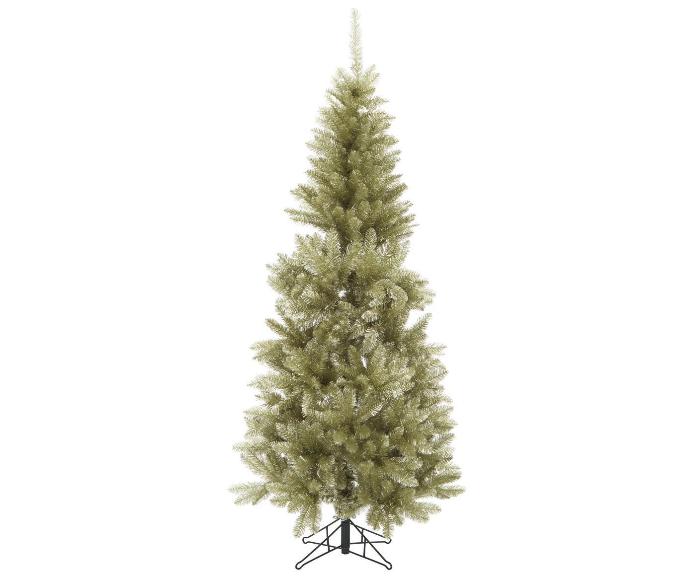 Künstlicher Weihnachtsbaum Colchester in Gold, Kunststoff (PVC), Champagnerfarben, Ø 84 x H 185 cm