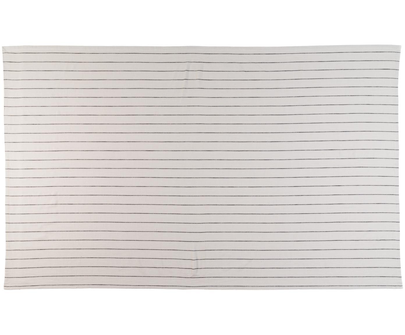 Obrus Lina, Bawełna, Jasny szary, czarny, Dla 6-8 osób (S 150 x D 250 cm)