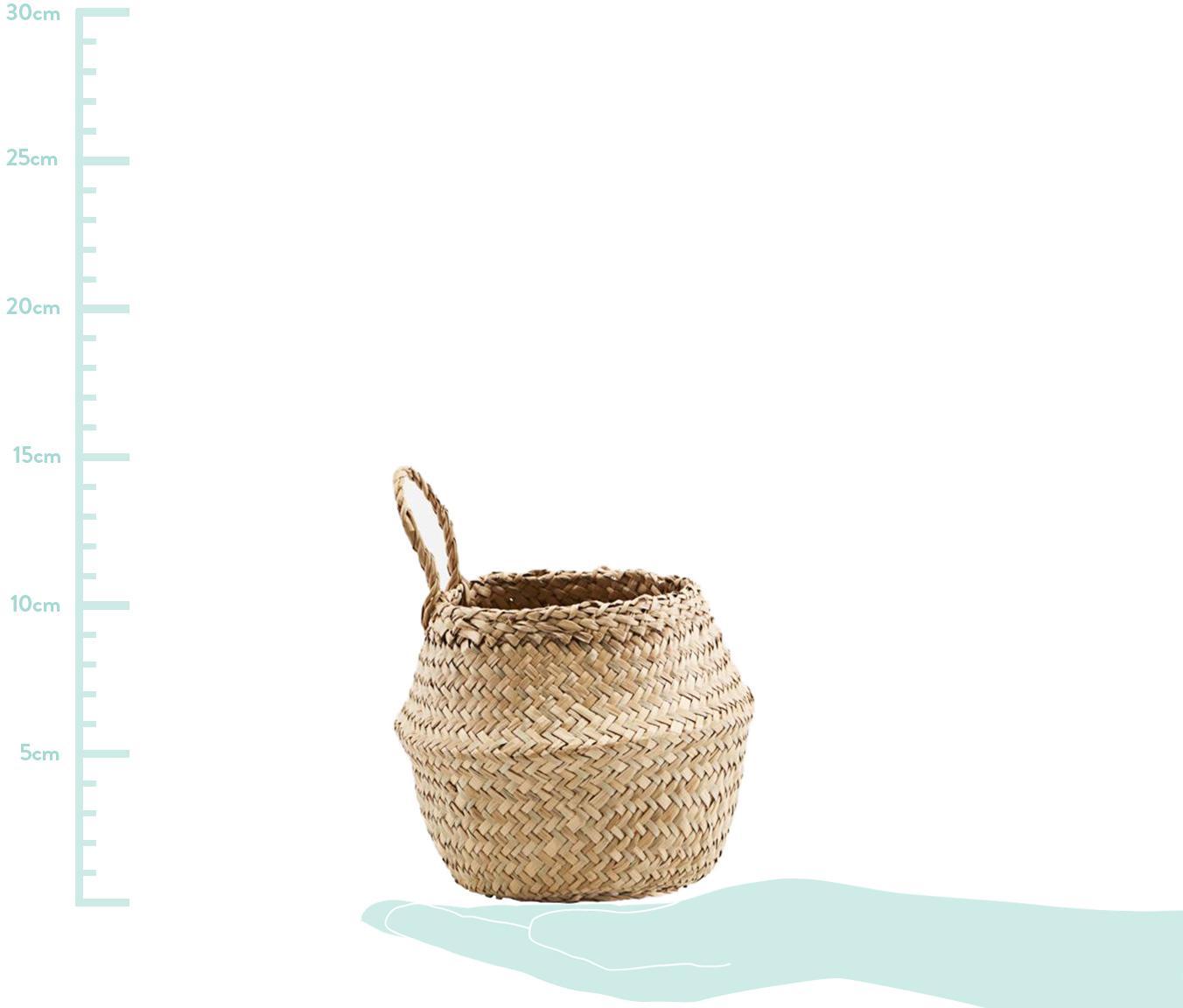 Aufbewahrungskorb Tanger, Seegras, Beige, Ø 15 x H 15 cm