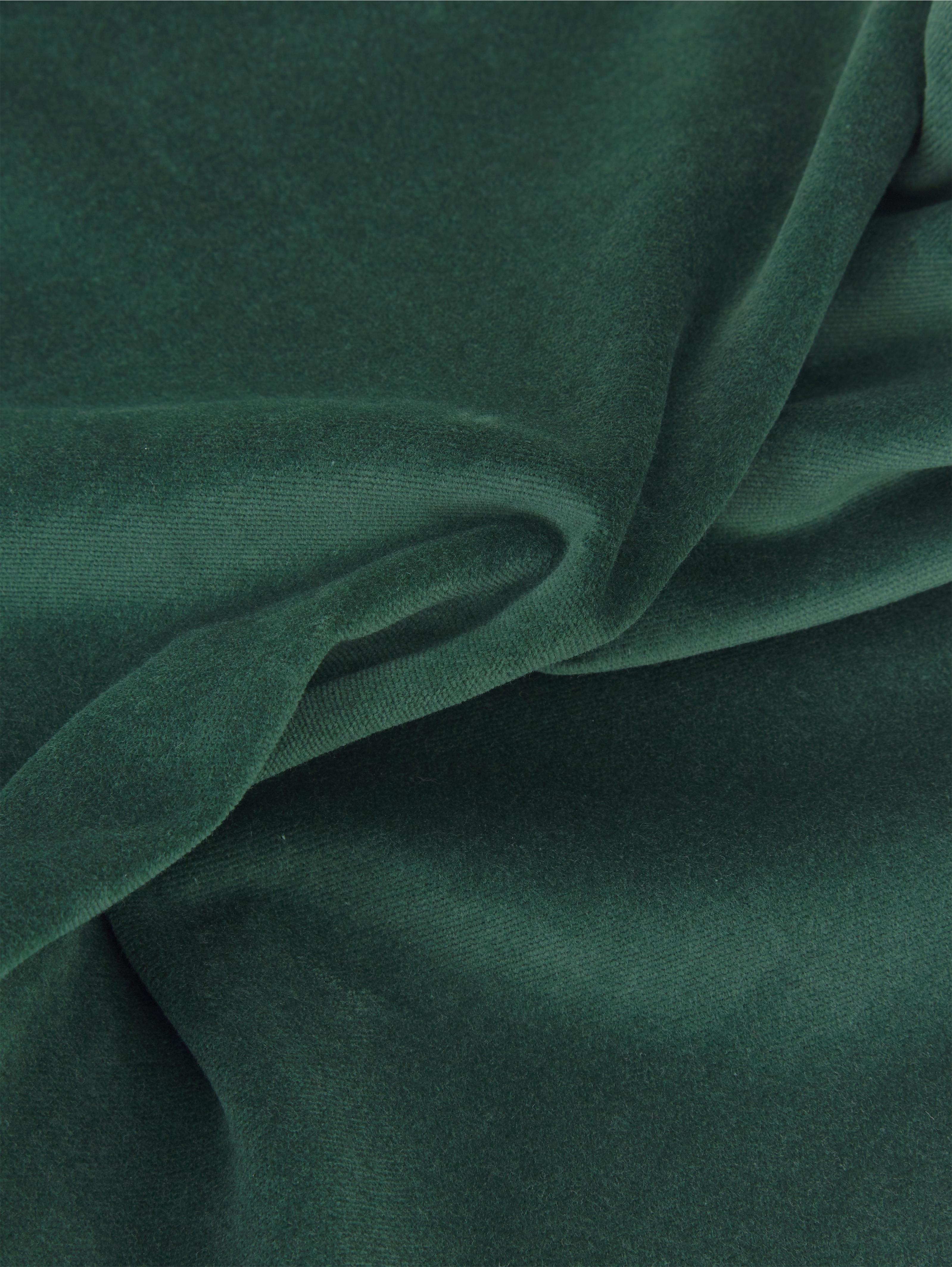 Jednobarevný sametový povlak na polštář Dana, Smaragdově zelená