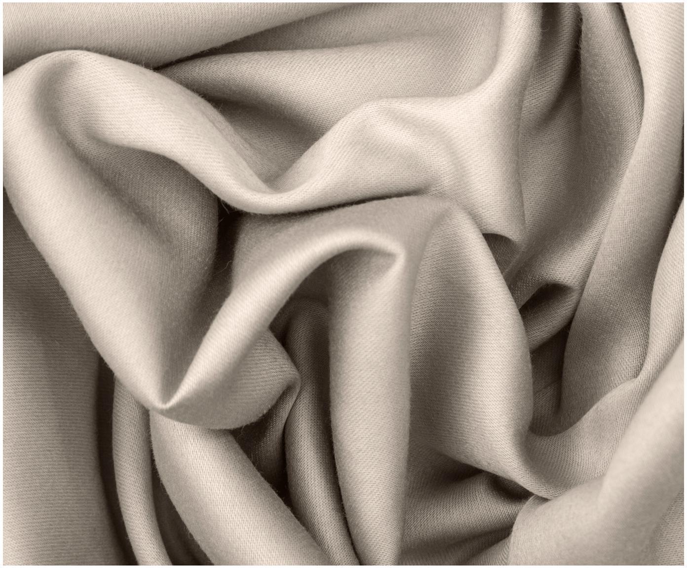 Dwustronna pościel z satyny bawełnianej Julia, Biały, taupe, 135 x 200 cm