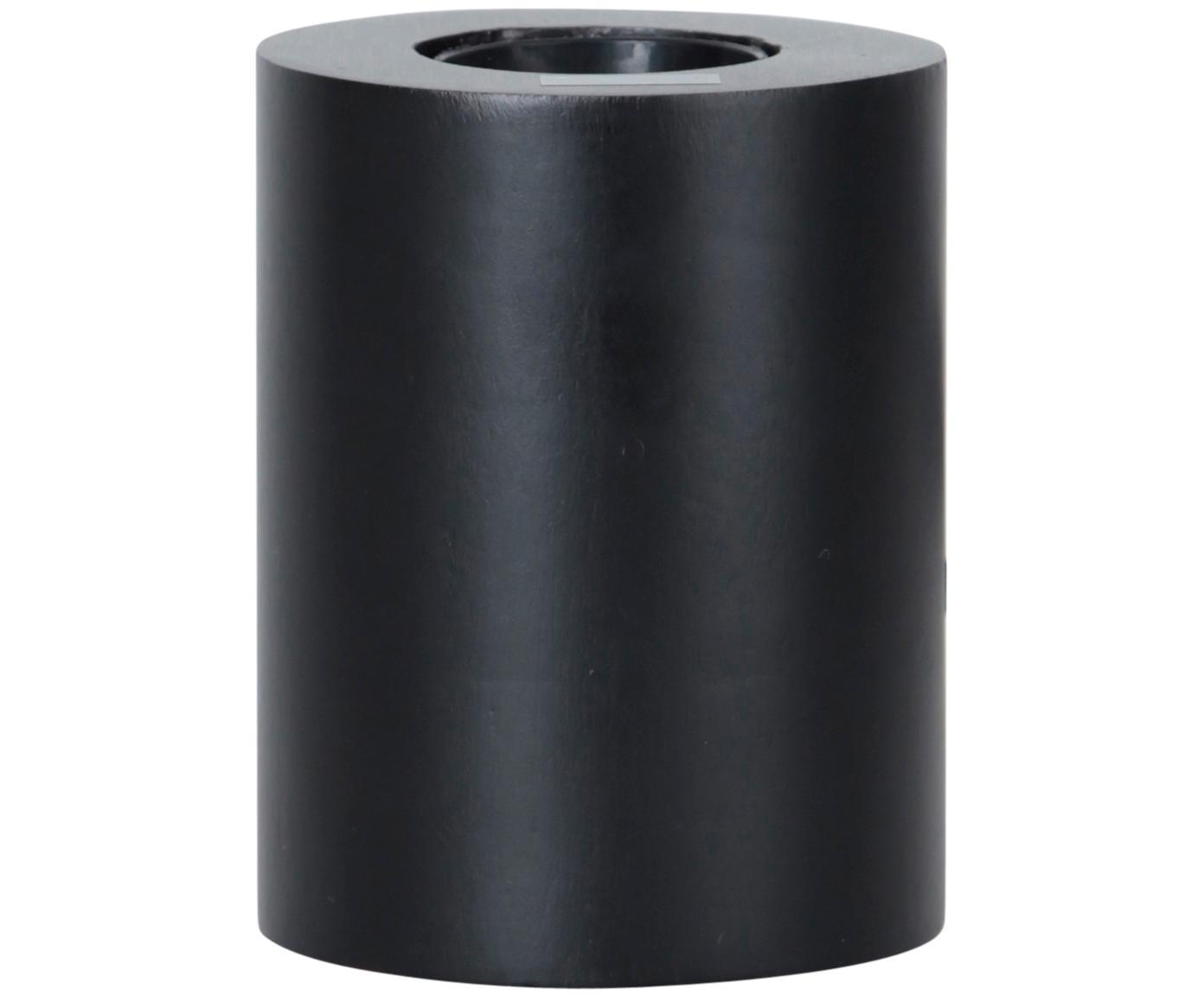 Kleine Tischleuchte Tub, Leuchte: Holz, beschichtet, Schwarz, Ø 8 x H 10 cm