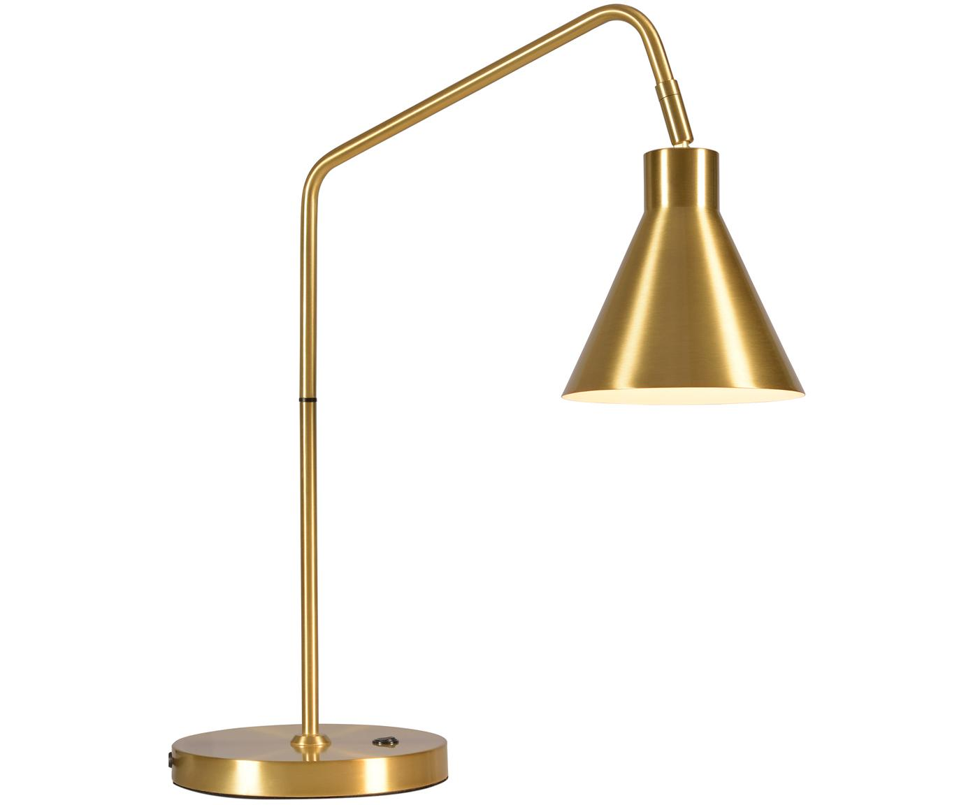 Lámpara de mesa Lyon, Cable: cubierto en tela, Dorado, An 55 x Al 54 cm