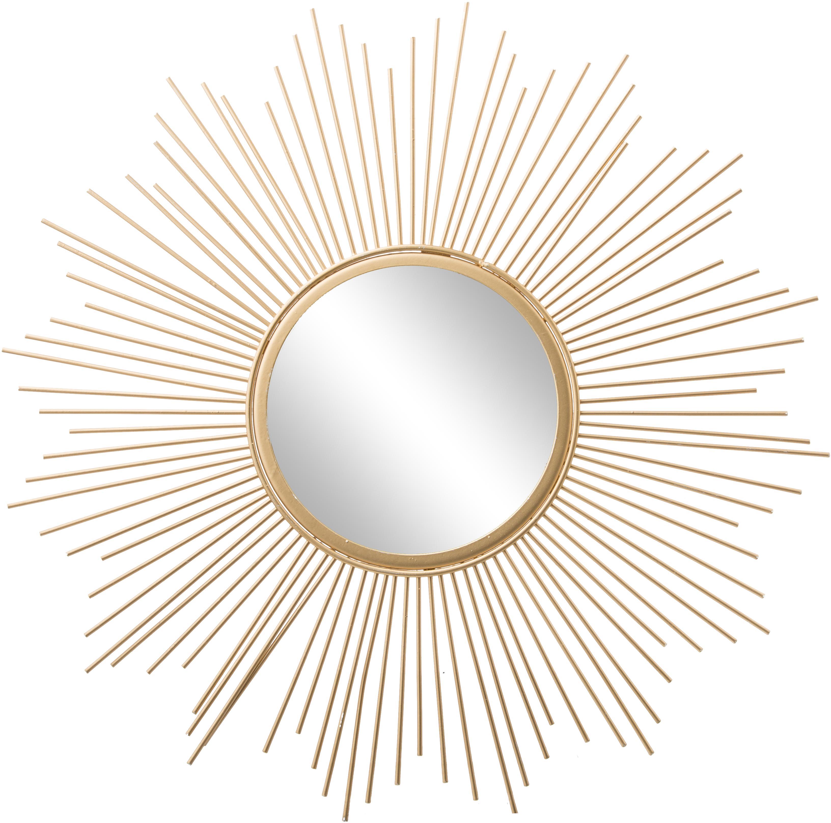 Espejo de pared Brooklyn, Espejo: cristal, Dorado, Ø 50 cm