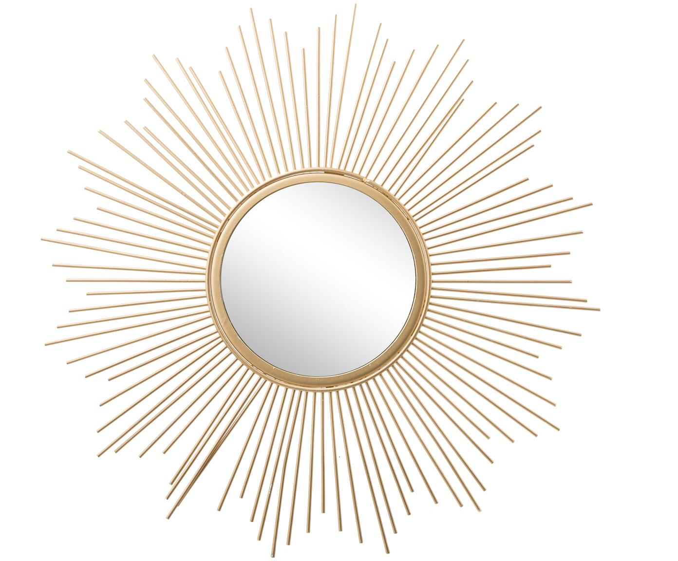 Espejo de pared Brooklyn, Espejo: cristal, Marco: dorado Espejo: cristal, Ø 50 cm
