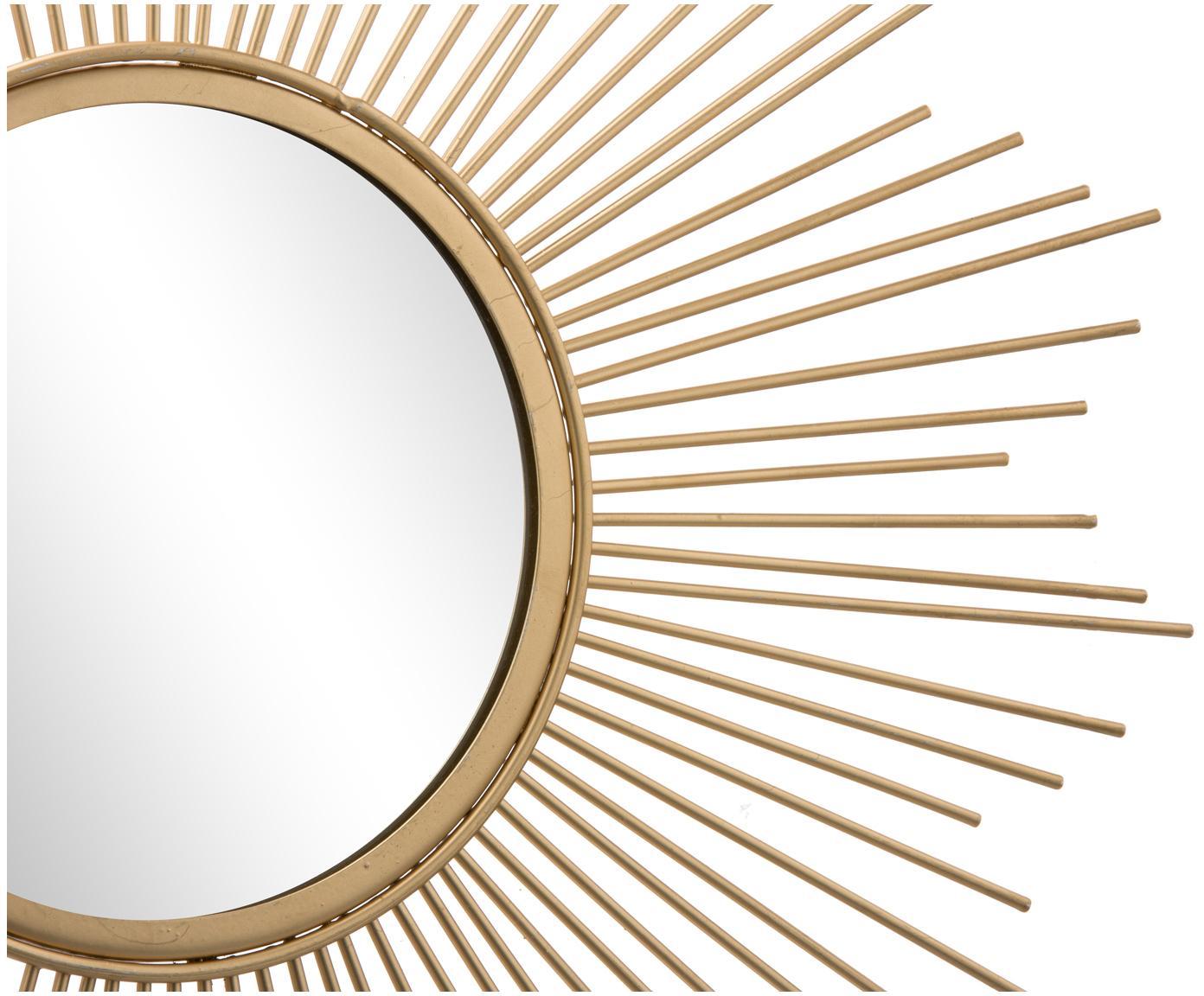 Lustro ścienne Brooklyn, Rama: odcienie złotego Lustro: szkło lustrzane, Ø 50 cm