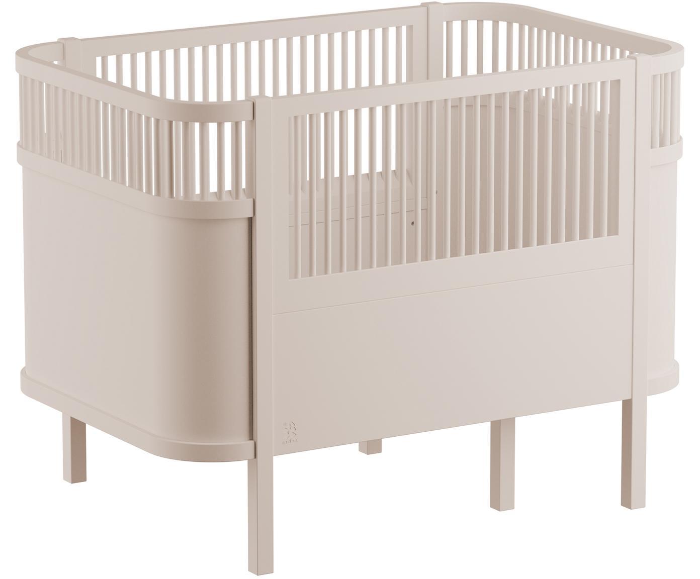 Babybed Junior, Gelakt berkenhout, Beige, 115 x 88 cm