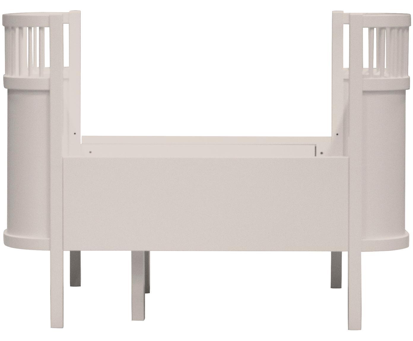 Baby-Bett Junior, Birkenholz, lackiert, Beige, 115 x 88 cm