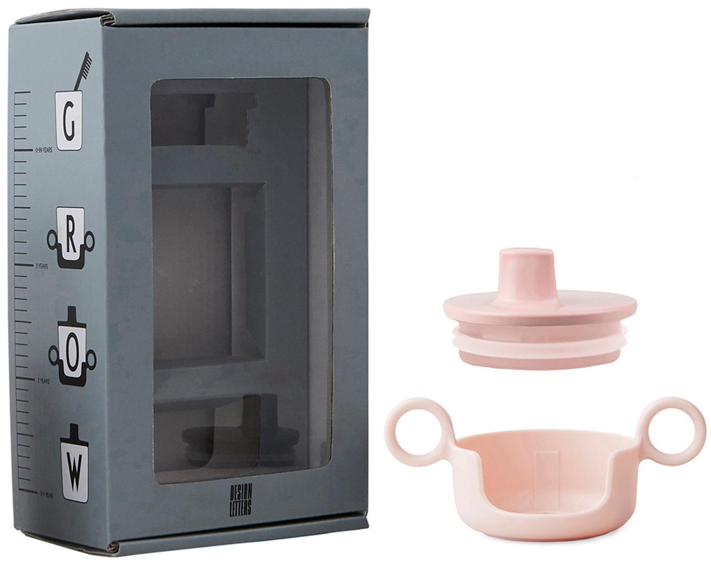 Tuit en houder voor beker Grow With Your Cup, Melamine, Roze, 14 x 8 cm