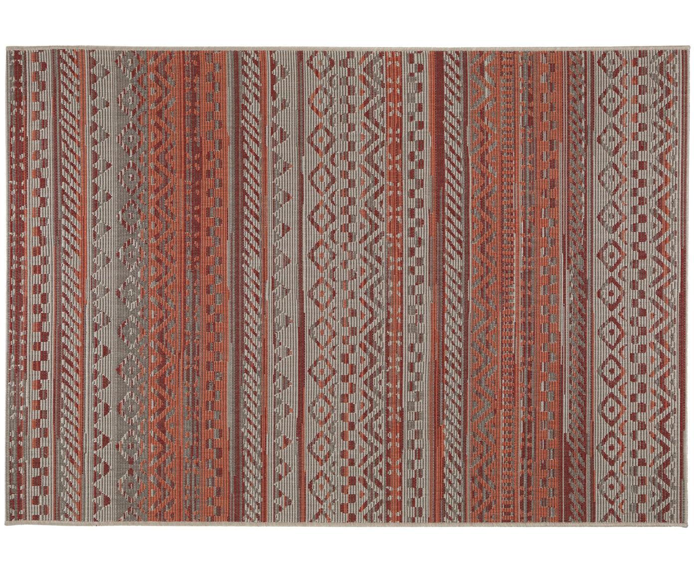 In- & outdoor vloerkleed Capri, Polypropyleen, Rood, B 120 x L 170 cm (maat S)