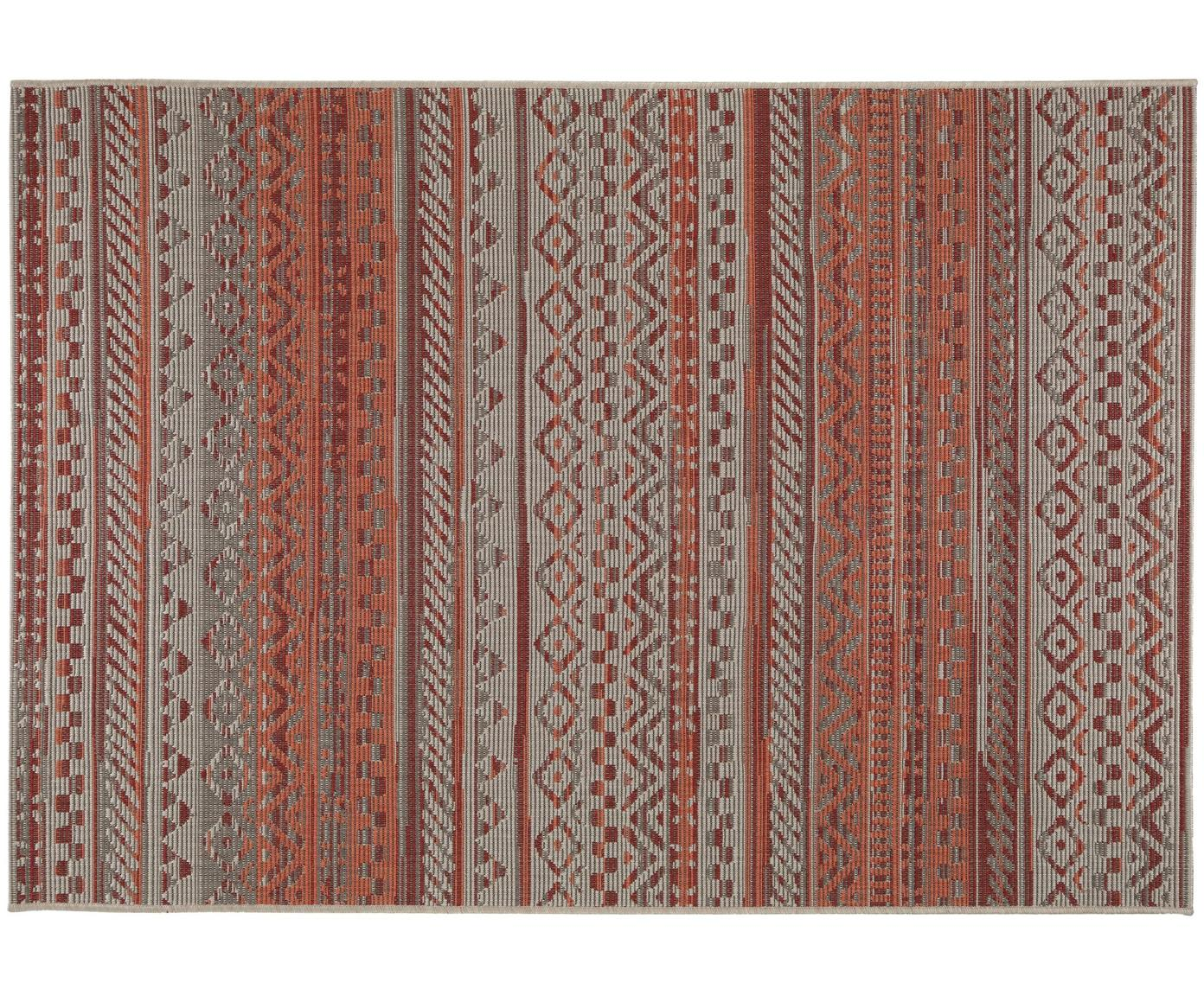 Tappeto da interno-esterno Capri, Polipropilene, Rosso, Larg. 120 x Lung. 170 cm (taglia S)