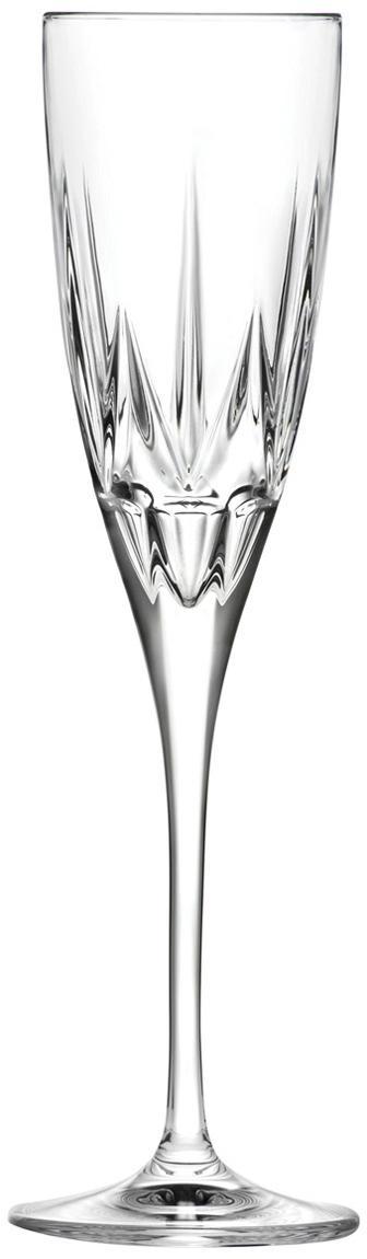 Flute champagne in cristallo Chic 6 pz, Vetro di cristallo, Trasparente, Ø 6 x Alt. 24 cm