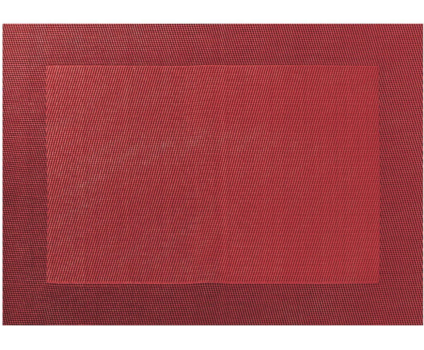 Placemats Trefl, 2 stuks, Kunststof (PVC), Rood, 33 x 46 cm