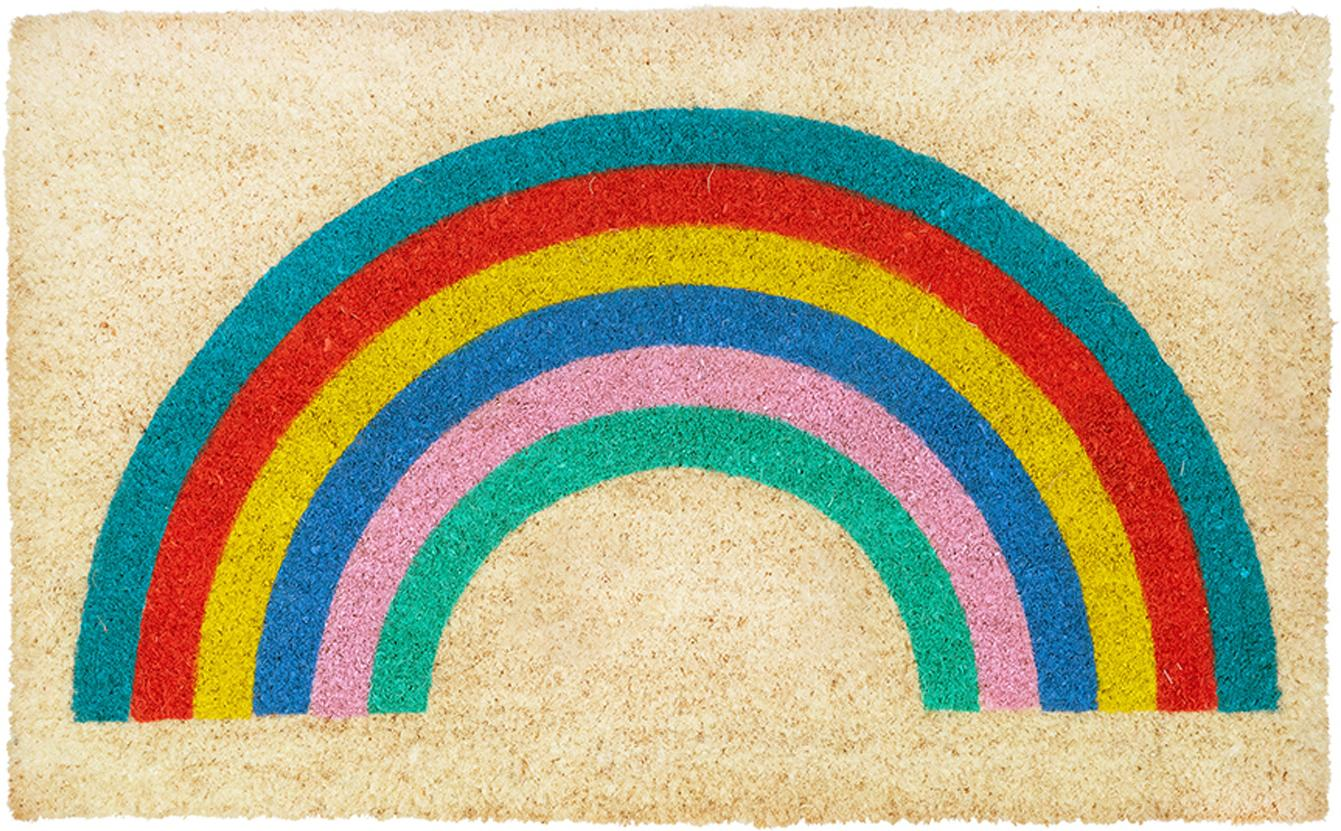 Wycieraczka Rainbow, Beżowy, wielobarwny, S 45 x D 75 cm