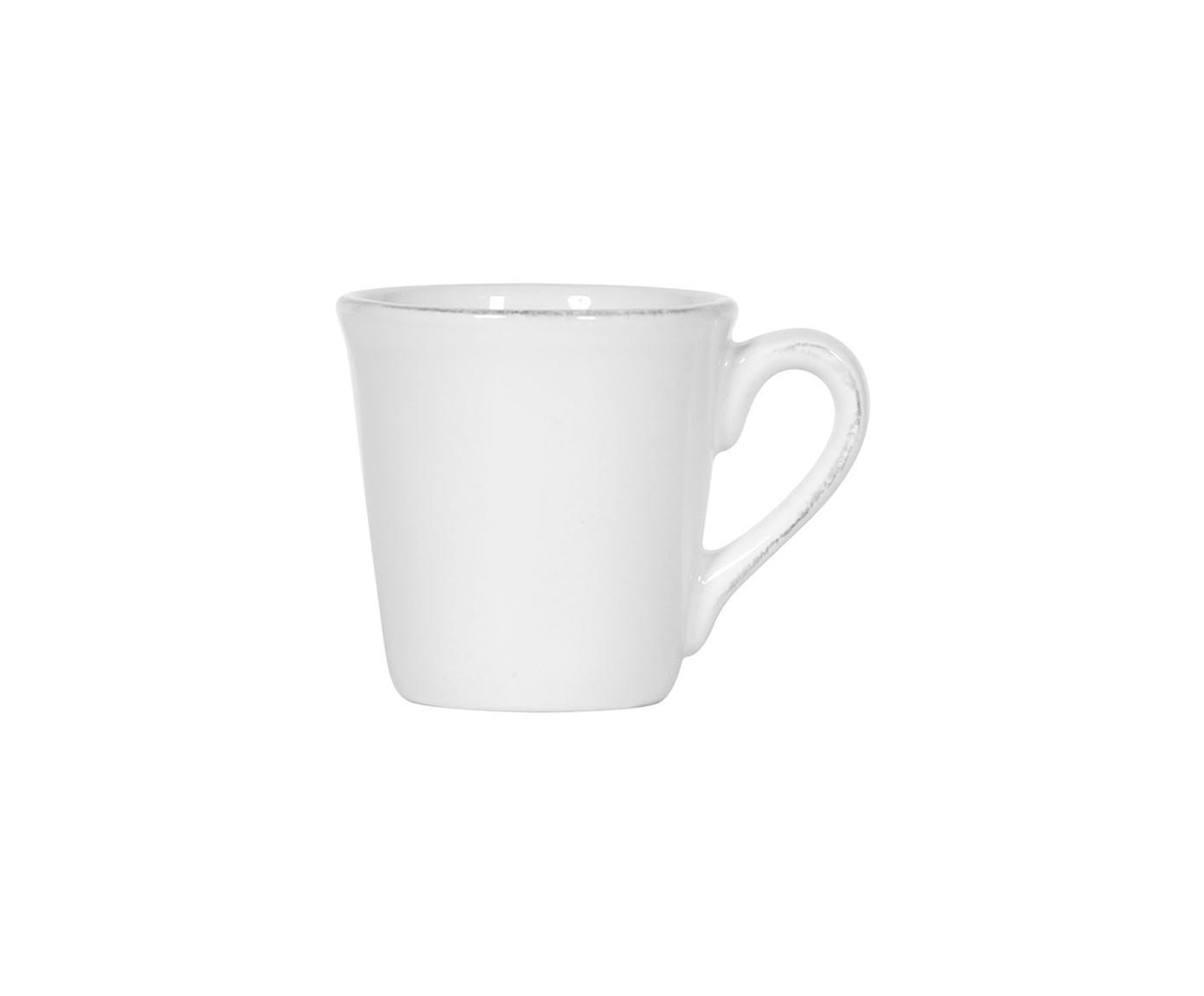Espressotassen Constance im Landhaus Style, 2 Stück, Steingut, Weiss, Ø 8 x H 6 cm