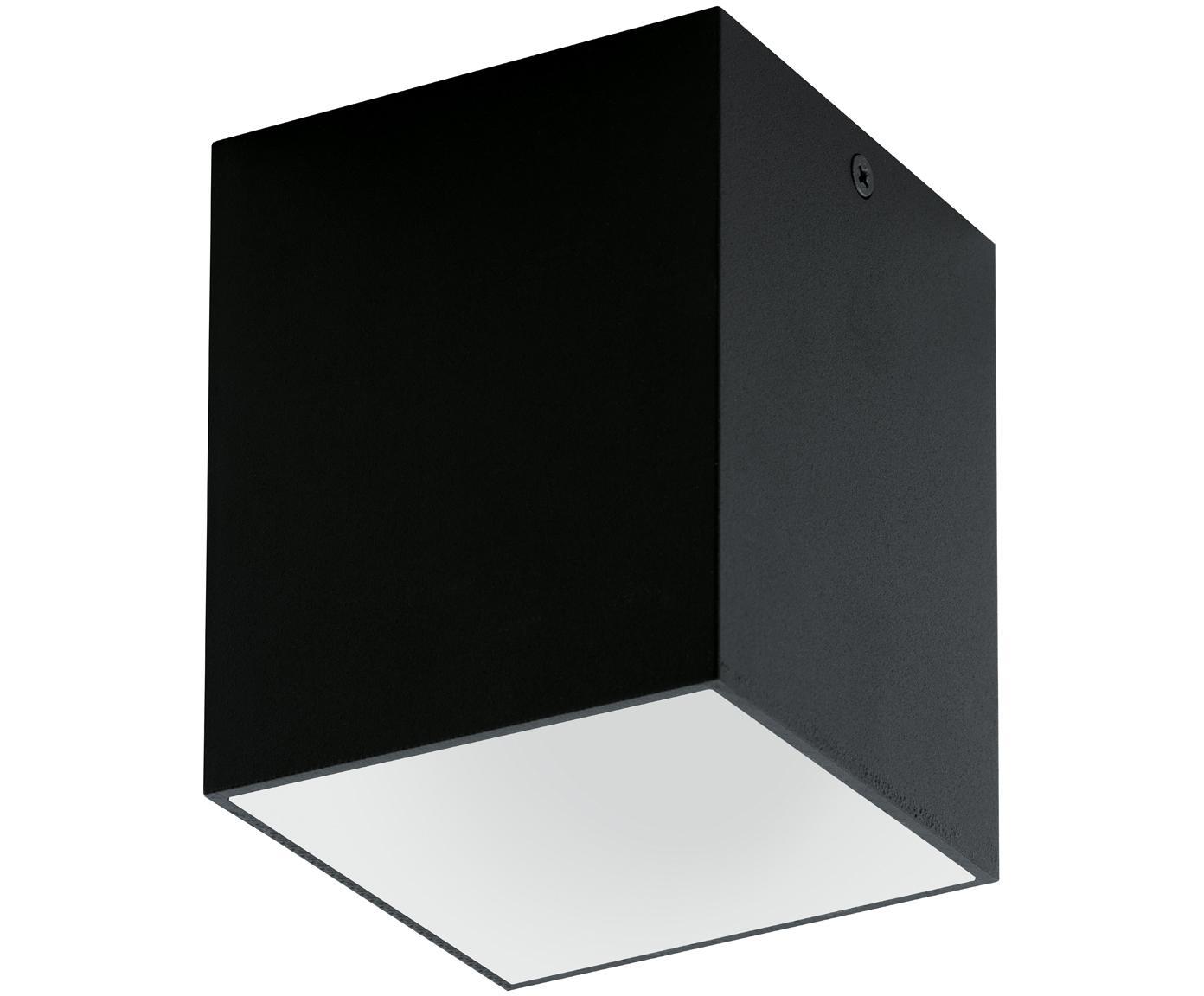 Lampa spot LED Marty, Metal malowany proszkowo, Czarny, biały, S 10 x W 12 cm