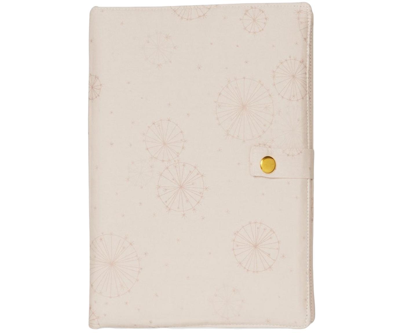 Copertina in cotone per diario nascita Dandelion, Cotone organico, certificato OCS, Rosa, Larg. 17 x Alt. 24 cm