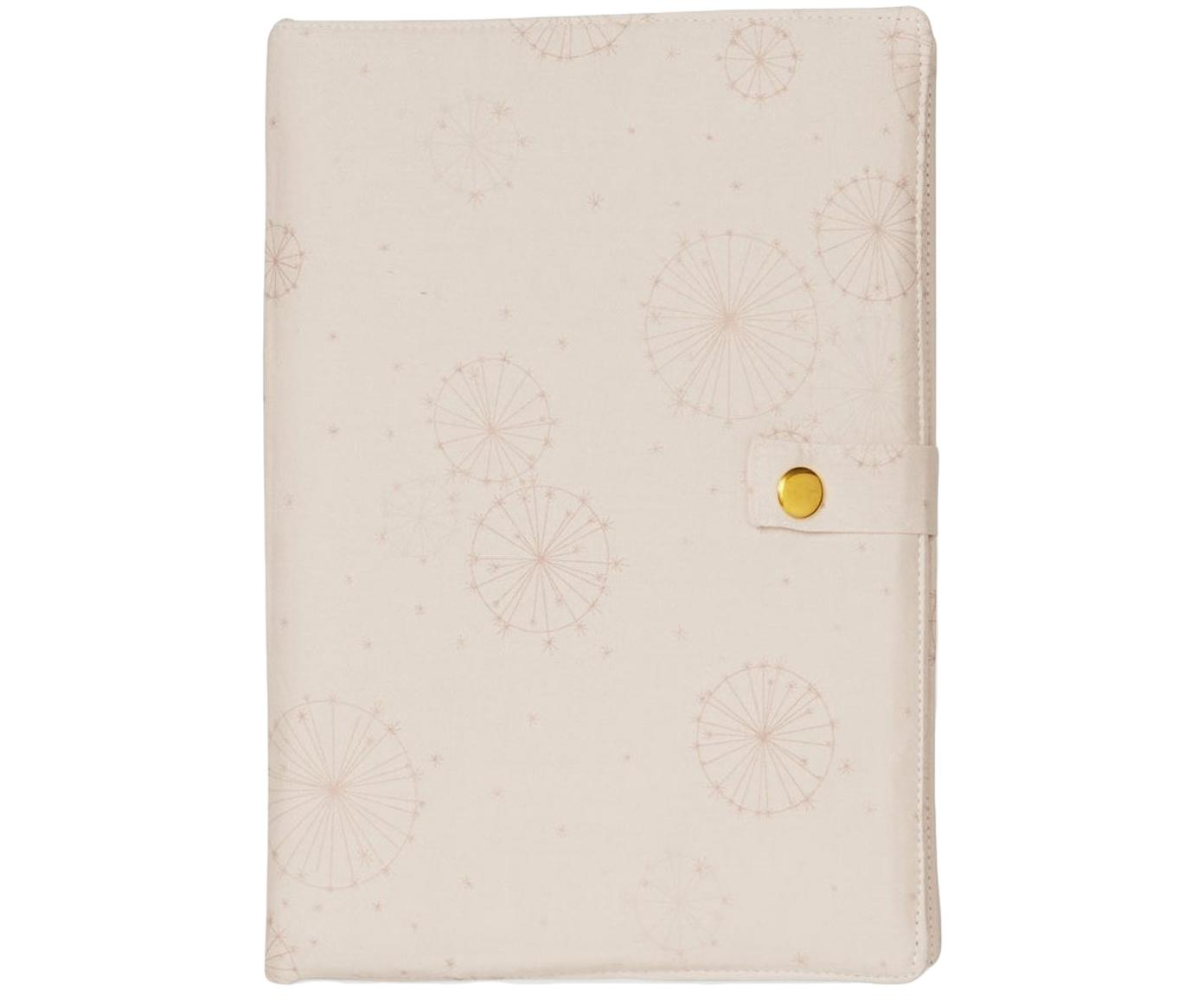 Funda para agenda de algodón ecológico Dandelion, Algodón ecológico, certificado OCS, Rosa, An 17 x Al 24 cm