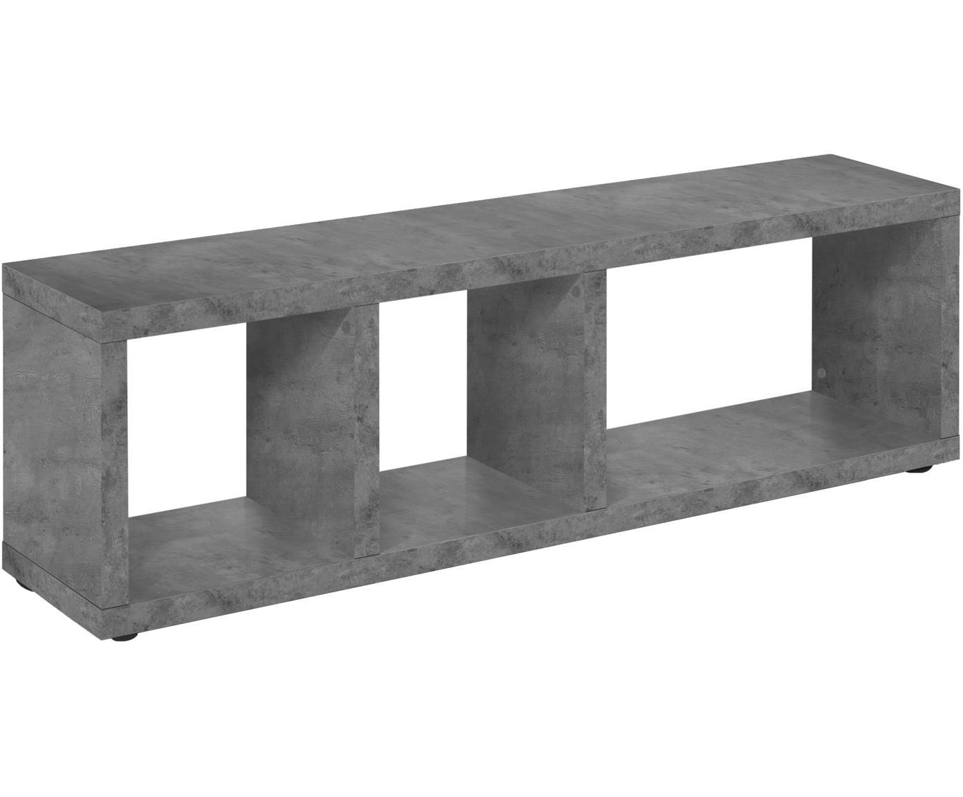 Mueble TV en cemento Berlin, Estructura: aglomerado con estructura, Superficie: chapado en melamina, Gris, An 150 x Al 45 cm