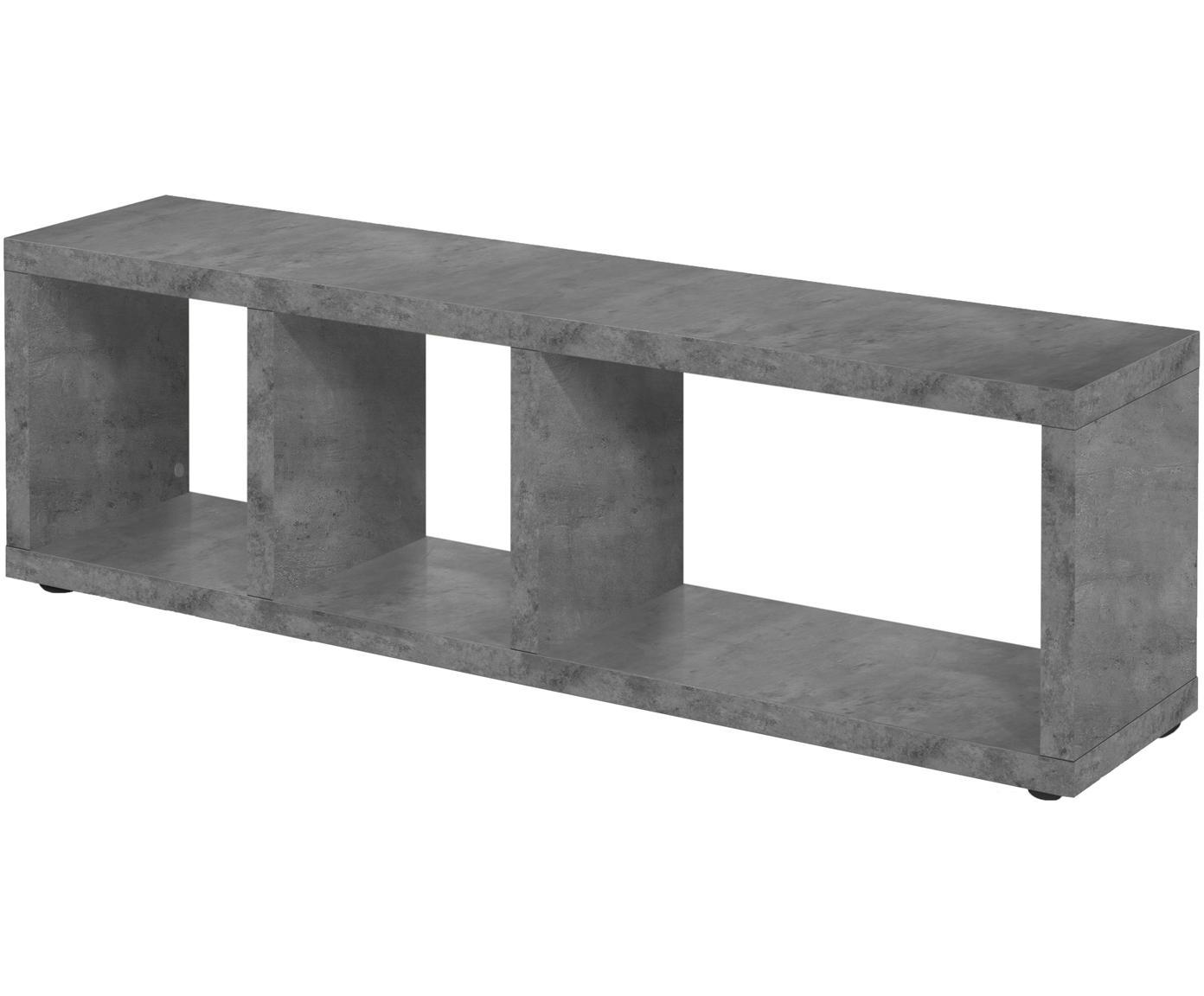 Mobile TV effetto cemento Berlin, Superficie: strato melaminico, Grigio, Larg. 150 x Alt. 45 cm