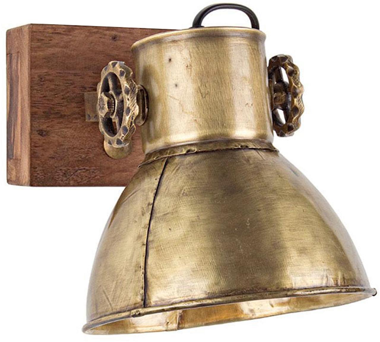 Aplique Zurine, Pantalla: hierro, Dorado, An 18 x Al 27 cm