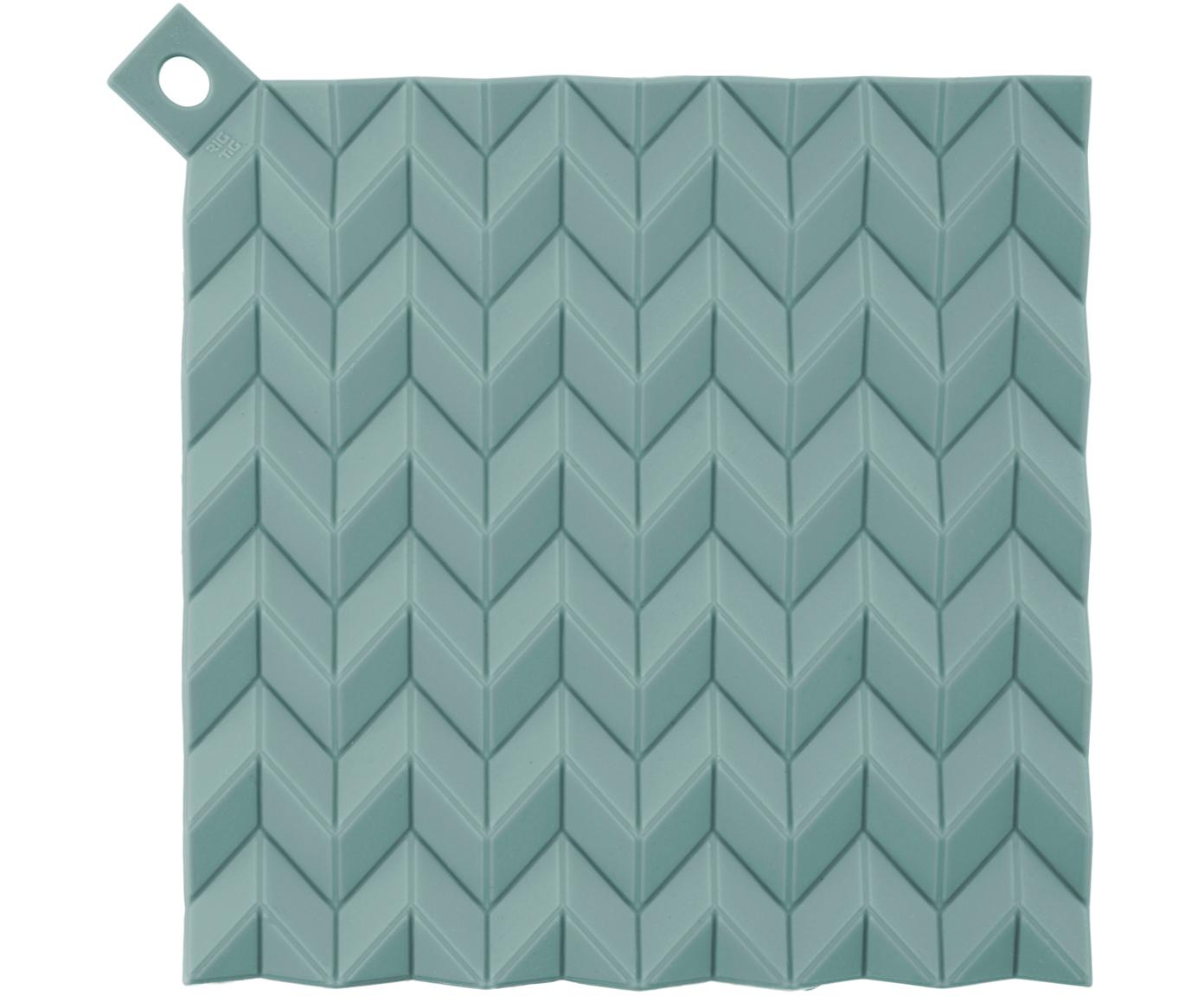 Pannenlappen Hold On, 2 stuks, Siliconen, Turquoise, 21 x 21 cm
